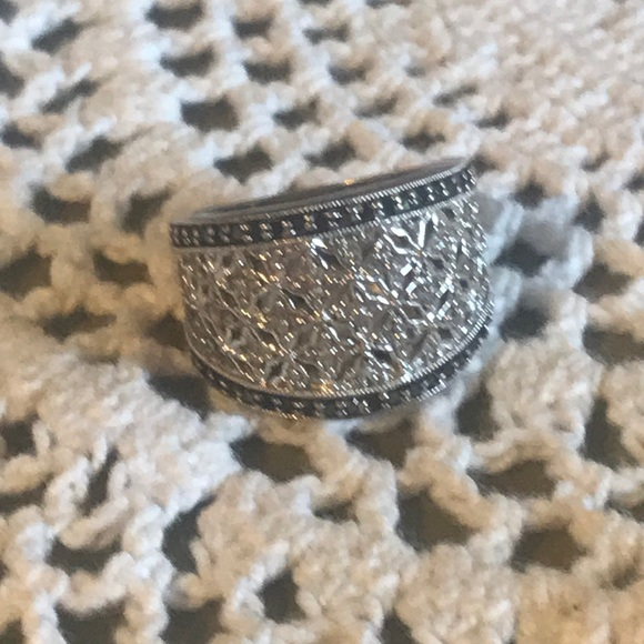 Marcasite Ss 925 Ring With Diamonds by Vintage